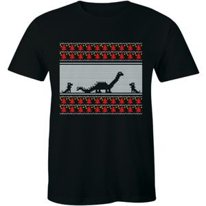 Dinosaur with Baby Dinosaur Family Son T-shirt Tee